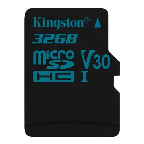 KINGSTON Canvas Go MicroSD da 32 GB Classe 10 UHS-I U3 con velocità fino a 90MB / s in lettura e 45MB / s in scrittura