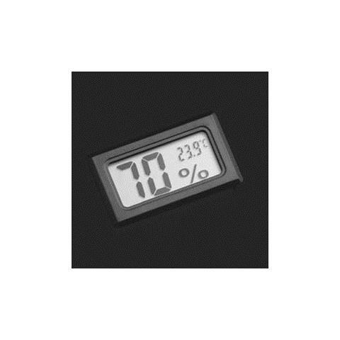 Mini Termometro Igrometro Digitale Temperatura Umidita' Casa Acquario, Colore: Nero