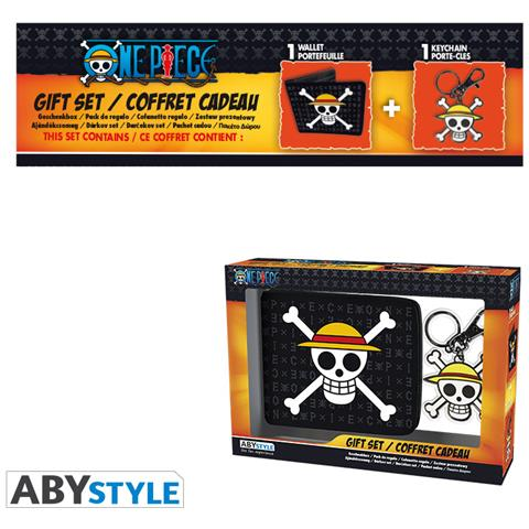 ABY Style One Piece - Pck Wallet + Keyring ''skull Luffy''