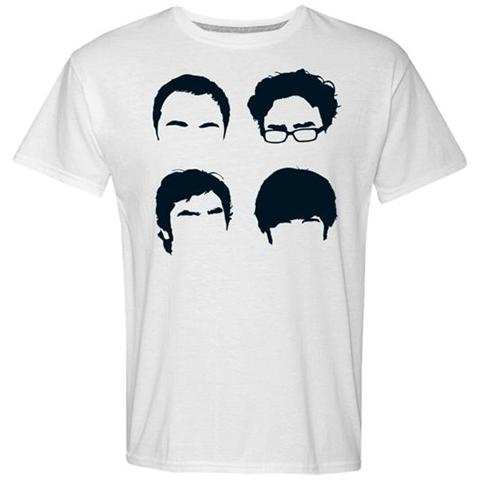 2BNERD Big Bang Theory (The) - Faces (T-Shirt Unisex Tg. 2XL)
