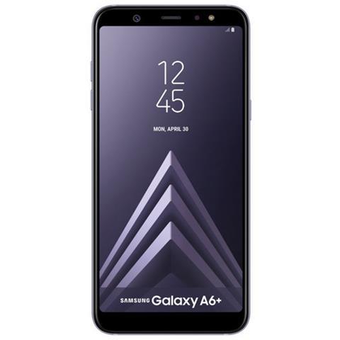 "SAMSUNG Galaxy A6+ Grigio 32 GB 4G / LTE Dual Sim Display 6"" Full HD+ Slot Micro SD Fotocamera 16 Mpx Android Italia"