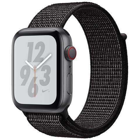 Watch Series 4 Nike+ 40 mm GPS + Cellular in alluminio grigio siderale con Nike Sport Loop nero