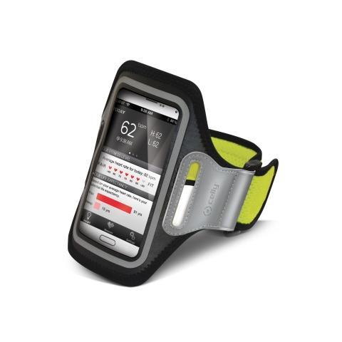 """CELLY Fascia da braccio XXL Universale per smartphone fino a 5"""" - Verde Fluo"""