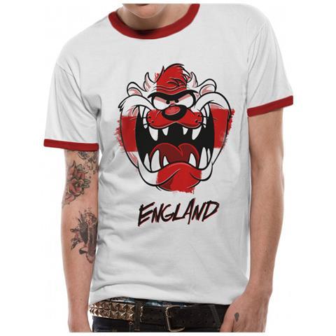 CID Looney Tunes - England Taz Ringer (T-Shirt Unisex Tg. S)