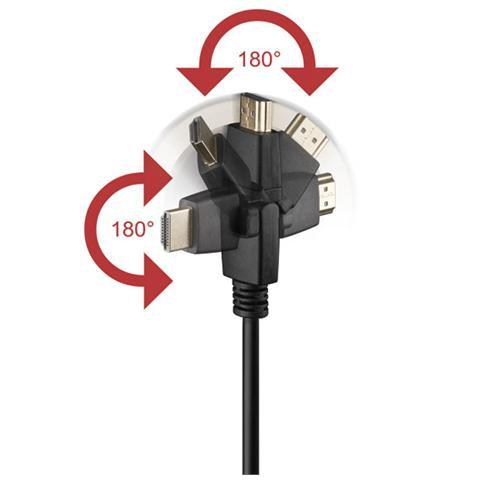 MANHATTAN ICOC HDMI-SE-050 Cavo HDMI Highspeed con Ethernet A / A M / M 5 m