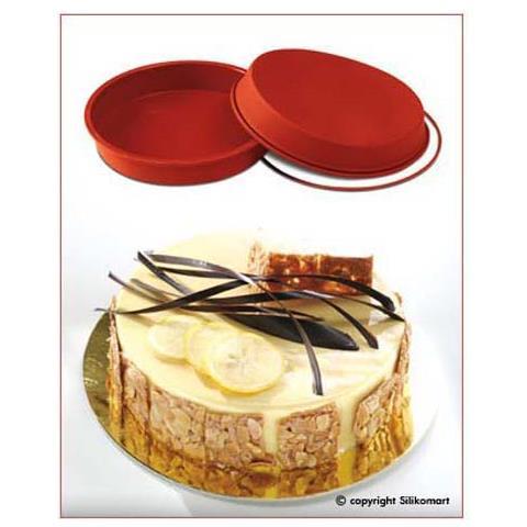 Stampo torta tondo 18cm classic terracotta silicone