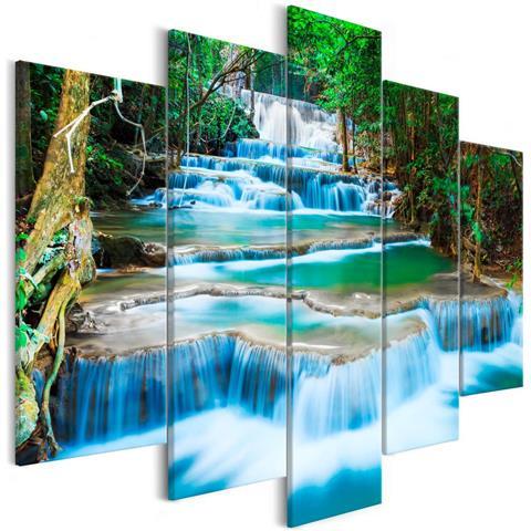 Quadro Waterfall In Kanchanaburi 5 Parts