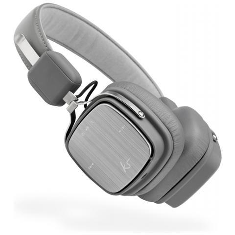 KITSOUND Clash Evolution, Stereofonico, Bluetooth / 3.5mm, Padiglione auricolare, Grigio, Wired / Bluetooth, Sovraurale