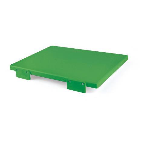 Tagliere Con Fermi Polietilene 40X30x2 Verde 5619
