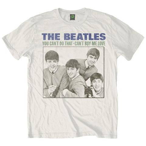 ROCK OFF Beatles (The) - You Can't Do That White (T-Shirt Unisex Tg. S)