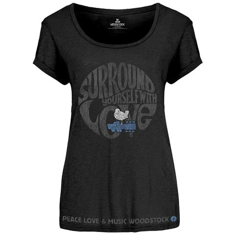 ROCK OFF Woodstock - Surround Yourself (Scoop Neck) (T-Shirt Donna Tg. M)