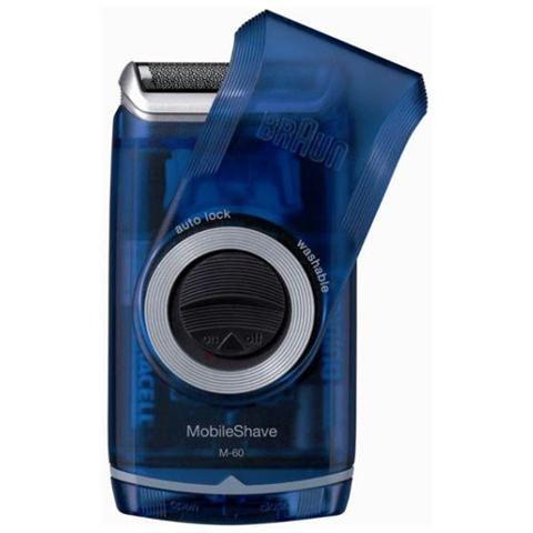 BRAUN M60B MobileShave Rasoio Elettrico a Batteria Colore Blu