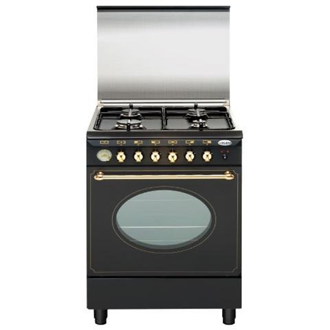 GLEM GAS - UA66VR3 Cucina a Gas 4 Zone Cottura con Forno Elettrico ...