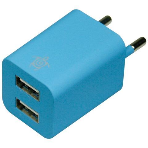 MEDIACOM Caricabatterie Home 2 USB - Blu