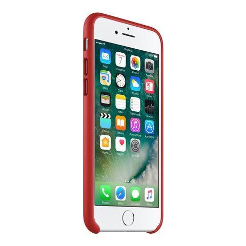 APPLE Custodia in Pelle per iPhone 7 Colore Rosso