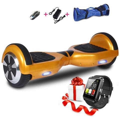Image of 6.5 Hoverboard Con Bluetooth Watch Smart Balance Monopattino Elettrico Pedana Scooter Segway Gold