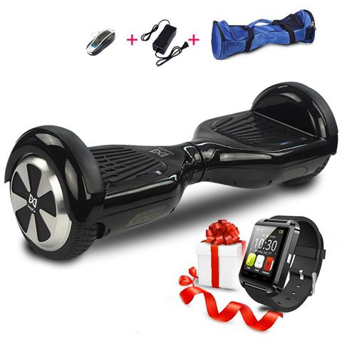 Image of 6.5 Hoverboard Con Bluetooth Watch Smart Balance Monopattino Elettrico Pedana Scooter Segway Nero