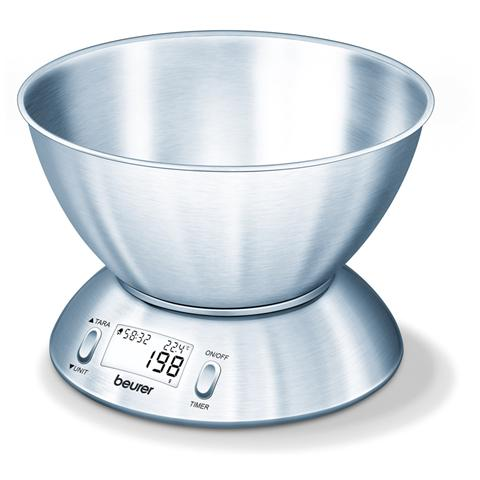 KS54 Bilancia da Cucina con Timer 5 kg Colore Silver