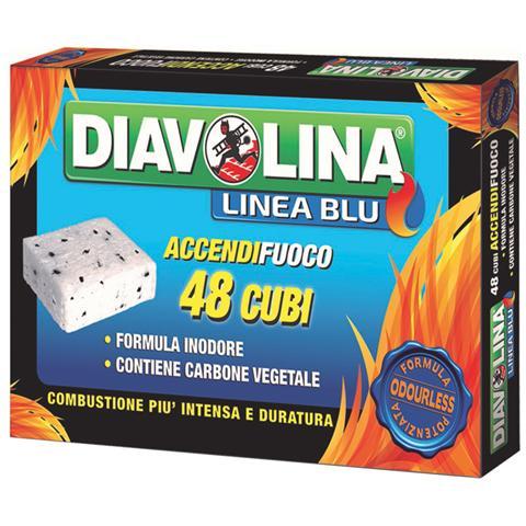 Diavolina Accendifuoco 48 Pezzi
