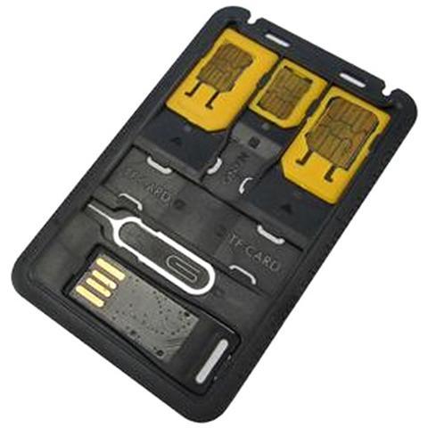 TECHLY I-SIM-5 - Adattatori schede SIM con Micro Lettore USB di MicroSD