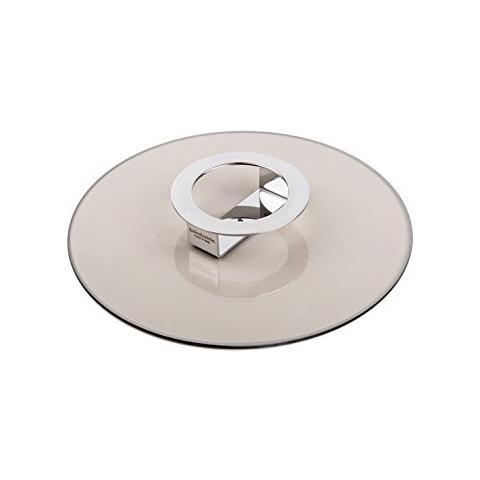 Coperchio / Alzata in Vetro Temprato Color Bronzo Diametro 26cm - Linea Foodwear