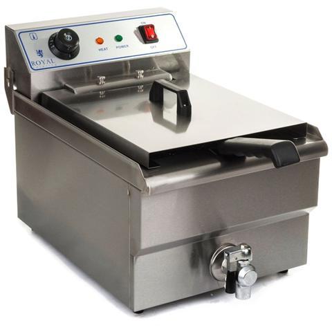 Friggitrice Con Rubinetto 16 Litri - 6000 Watt