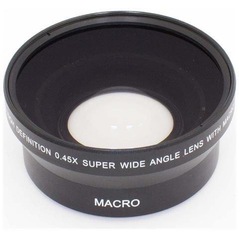 Grandangolo Lente Ausiliaria Per Obiettivo 67mm, Fattore 0.45x Per Fotocamera Sony E 18-20...