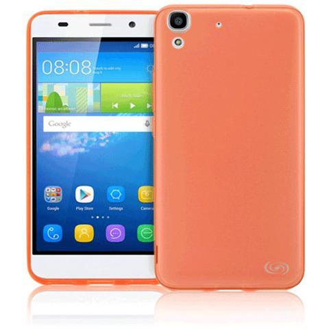 FONEX Inv Cover Ultra Sottile 0,2 mm in Morbido TPU per Huawei Y6 Colore Rosso Trasparente