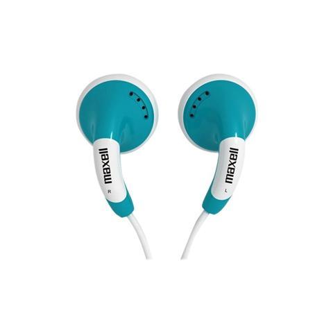 MAXELL Auricolari con Microfono Colore Blu e Bianco