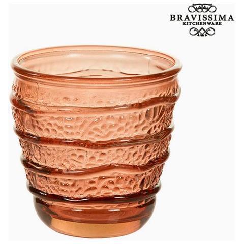 Bicchiere In Vetro Riciclato Corallo (9 X 9 X 9 Cm) S0105999