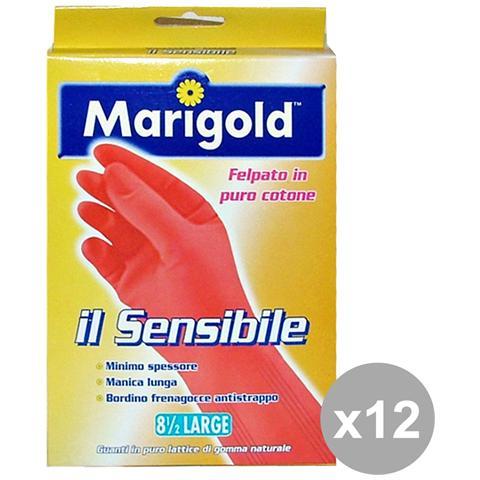 Marigold Set 12 Guanti Sensibili L Giardinaggiog