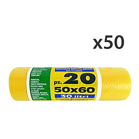 Virosac Set 50 50x60 Gialli X 20 Pezzi Peterpan Riordino