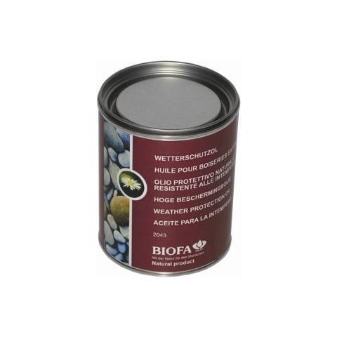 2043 Opaco - 5164 Teak 2,5 L Olio Naturale Per Esterni