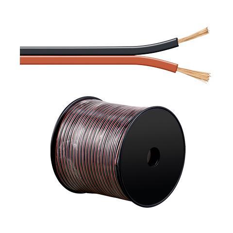 EMACHINE ICOC AU-RN25 - Cavo Audio per diffusori acustici Nero / rosso 2,5 mm² matassa 100mt