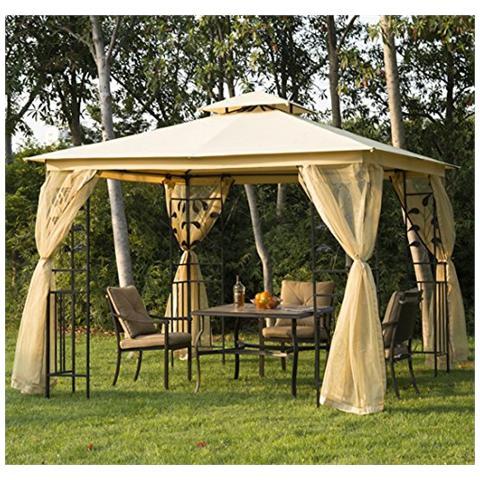 Padiglione da giardino di lusso gazebo tenda da giardino pagoda 3x3 m