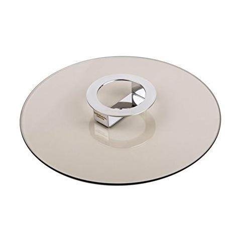 Coperchio / Alzata in Vetro Temprato Color Bronzo Diametro 30cm - Linea Foodwear