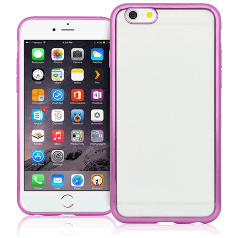 FONEX Sparkling Cover in Morbido TPU con Bordi ad Effetto Metalizzato per iPhone 5/5S / SE Colore Trasparente / Rosa