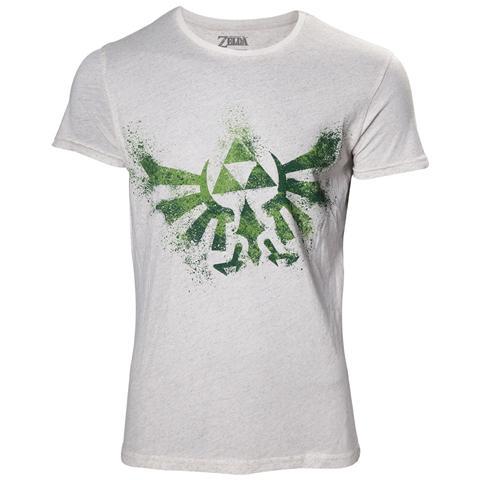 BIOWORLD Nintendo - Zelda Hyrule Nappy White (T-Shirt Unisex Tg. L)
