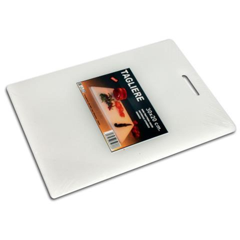 Tagliere Bar Polietilene Bianco 30X20x0,8 1038