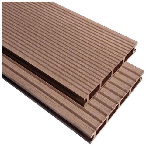 Pavimento per esterni in WPC con accessori 26 m² 2,2 m marrone