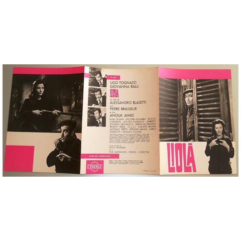 Vendilosubito Brochure Originale Del Film Lola Con Ugo Tognazzi Del 1963 Rara