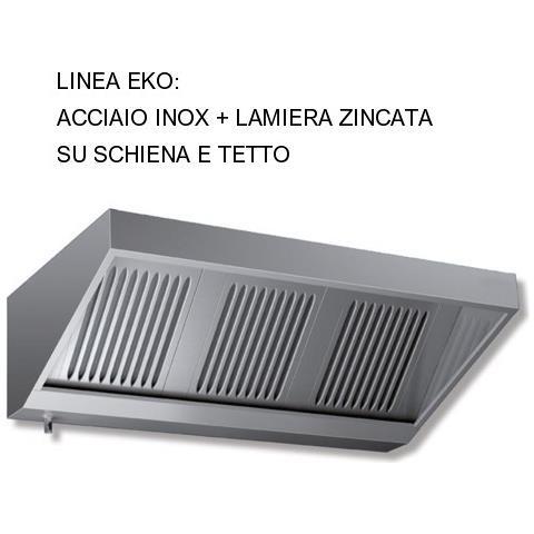 Cappa 200x70x45 Acciaio Inox E Lamiera Zincata Snack Motore Cucina Ristorante Rs9400