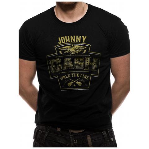CID Johnny Cash - Label (T-Shirt Unisex Tg. L)