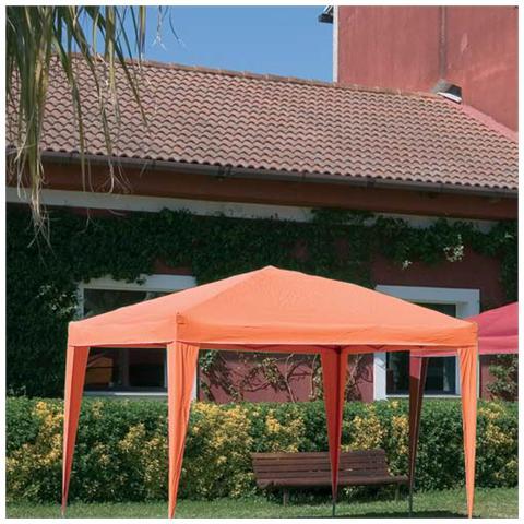 Gazebo in Alluminio 3 x 3 metri Colore Arancione