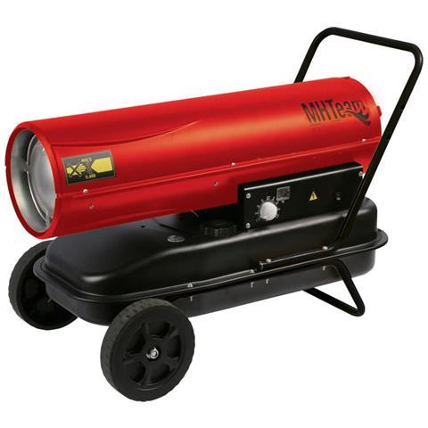 Dh1 30 Rosso Generatore Aria Calda Con Ruote