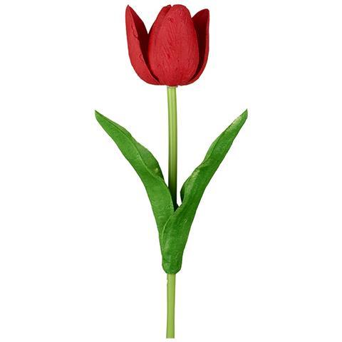Heaven Sends Stelo Di Tulipano (34 X 7cm) (rosso)