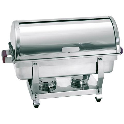 500458 Chafing dishes Scaldavivande rolltop GN1/1 acciaio cromato