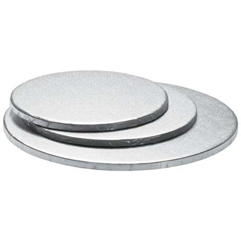 Decora Sottotorta tondo argento 22 h. 1,2cm