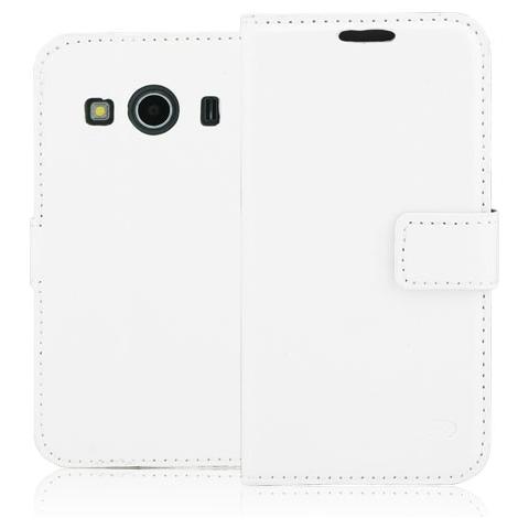 FONEX Classic Diary Custodia a Libro In Ecopelle per Galaxy Ace 4 Colore Bianco