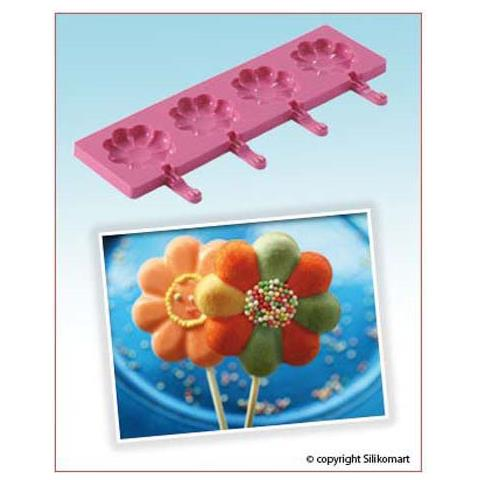 Silikomart Stampo easy pop fiore rosa wonder cake silicone